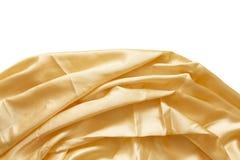 Kremowa jedwabnicza tkanina Obrazy Royalty Free