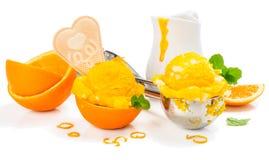 kremowa lodowa pomarańcze fotografia stock