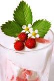 kremowa lodowa truskawka Fotografia Royalty Free