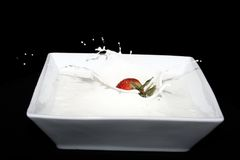 kremowa truskawka obrazy stock