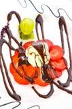 kremowa wyśmienicie lodowa truskawka Zdjęcie Royalty Free