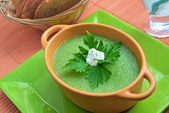 kremowa zupa Zdjęcie Stock