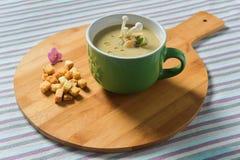 kremowa zupa pieczarkowa Obrazy Royalty Free