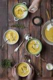 kremowa zupa z soczewicy Obraz Royalty Free