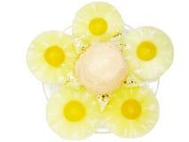 kremowego lodowego melonowa ananasowy syrop Zdjęcia Royalty Free