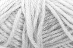Kremowej przędzy tekstury Biały kolor Obraz Royalty Free
