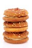 Kremowi kanapka krakers Zdjęcia Royalty Free
