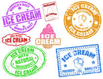 kremowi lodowi znaczki Zdjęcia Stock