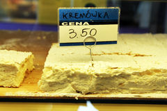 Kremowka cake Stock Photography