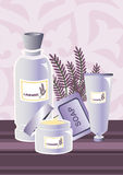 Kremowy Lavendel skład Obrazy Stock