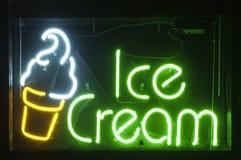 kremowy lodowy neon Obraz Royalty Free