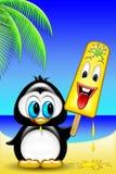 kremowy lodowy pingwin Obraz Stock