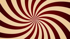 Kremowy pinwheel wiruje CCW tła rocznika abstrakcjonistycznego stylu bezszwową pętlę zbiory wideo