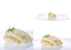 Kremowy ser na bielu talerzu Obraz Stock