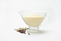 Kremowy serowy kumberland w szkle. Fotografia Stock