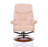 Kremowy zamszowy recliner krzesło Zdjęcie Royalty Free