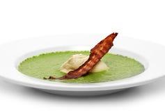 kremowy zupny szpinak Zdjęcie Stock