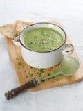 kremowy zupny warzywo zdjęcie stock