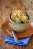 kremowych fritters kwaśny zucchini Fotografia Stock