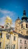 Krems an der Donau, Austria. Religious statue in  Krems an der Donau, Austria Royalty Free Stock Image