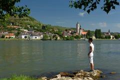 Krems en der Donau, Wachau, Österrike Royaltyfri Fotografi