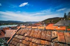 Krems på Danube River Royaltyfria Foton
