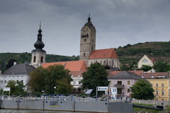 Krems twin churches Royalty Free Stock Photos