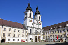 Kremsmünster Abbey, Upper Austria. Baroque Kremsmunster abbey in upper austria royalty free stock photography
