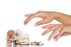 kremy kosmetyczną ręce Zdjęcia Royalty Free