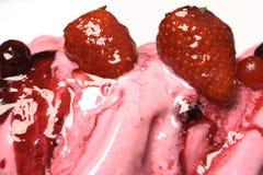 kremy lodową truskawka obraz stock