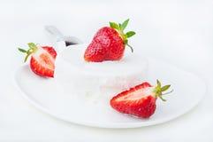 kremy lodową truskawka Zdjęcie Royalty Free