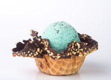 kremy szyszek tła czekoladowe lody lodu nad pistacjowym waniliowym truskawkowy white nowy czekoladowego układu scalonego lody na  Zdjęcia Royalty Free