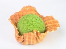 kremy szyszek tła czekoladowe lody lodu nad pistacjowym waniliowym truskawkowy white zielona herbata lody na tle Zdjęcia Stock