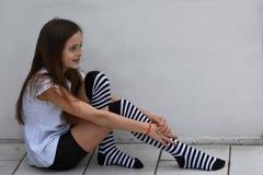 Kreolisches Jugendlichmädchen Stockbilder