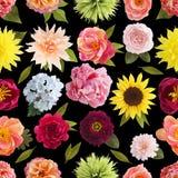 Krepdeszynowi papierowego kwiatu bezszwowi deseniowi pastelowi kolory Fotografia Stock