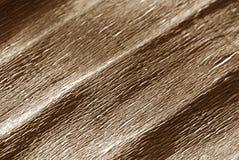 Krepdeszynowy papier z plama skutkiem w brown kolorze Zdjęcie Stock