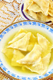 Kreplach - Jewish ravioli in chicken soup Stock Images