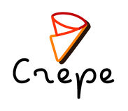 Krepp Logo Design Stockfoto
