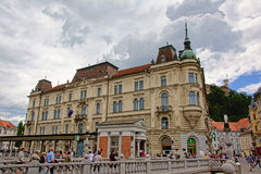 Kresija byggnad, Ljubljana Arkivfoton