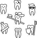 Kreskówka kreskowy ząb royalty ilustracja