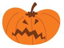 Kreskówki Halloween bania z gniewnym wyrażeniem royalty ilustracja