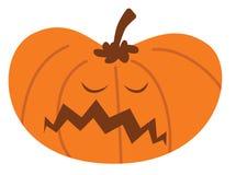 Kreskówki Halloween bania z nieszczęśliwym wyrażeniem royalty ilustracja