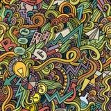 Kreskówek śliczni doodles wręczają patroszonemu pomysłowi bezszwowego wzór Obraz Royalty Free