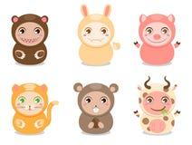 Kreskówek śliczni zwierzęta Zdjęcie Stock