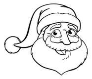 Kreskówek boże narodzenia Święty Mikołaj Obrazy Royalty Free