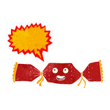kreskówek bożych narodzeń krakers z mowa bąblem Obraz Stock