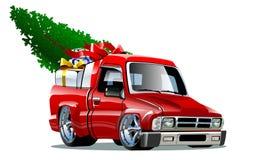 Kreskówek bożych narodzeń Pickup Fotografia Royalty Free
