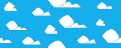 Kreskówek chmur wzór Obrazy Royalty Free