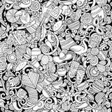 Kreskówek doodles ślicznych ameryka łacińska bezszwowy wzór Obraz Royalty Free