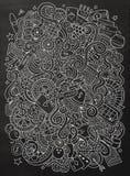 Kreskówek doodles pociągany ręcznie kasyno, uprawia hazard ilustrację Fotografia Royalty Free